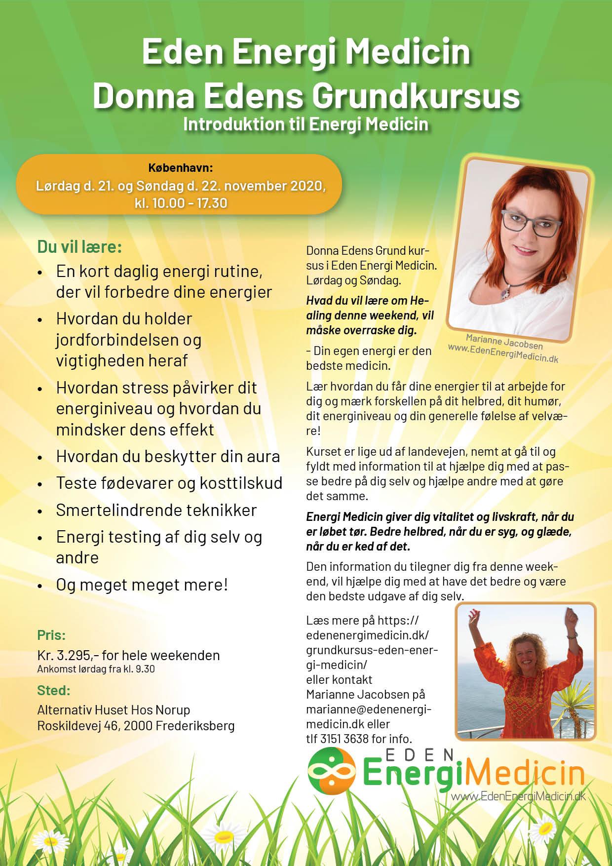 Introduktion til Eden Energi Medicin, weekendkursus