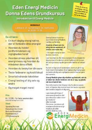 Grundkursus i Donna Edens EnergiMedicin, April 2022, Bornholm