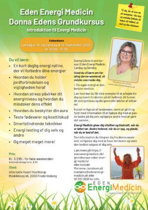 Grundkursus i Donna Edens EnergiMedicin, September 2022, København