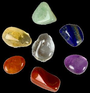 Sæt med 7 luksus chakra krystaller